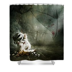 Shame Shower Curtain by Mary Hood