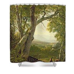 Shandaken Ridge - Kingston Shower Curtain by Asher Brown Durand