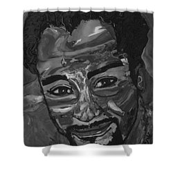 Shane In Black And White Shower Curtain