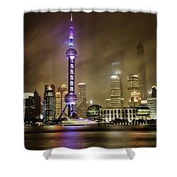 Shanghai Skyline Shower Curtain