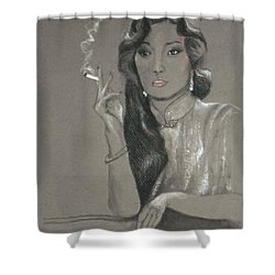 Shanghai Triad -- Portrait Of Chinese Film Star Shower Curtain