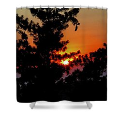 Shangrila Sunset Shower Curtain by Jack Eadon