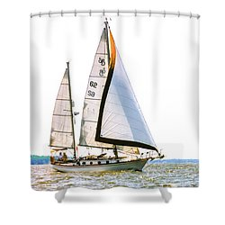 Shannon 38 Kittiwake On Chesapeake Bay Shower Curtain