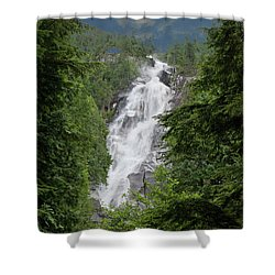 Shower Curtain featuring the photograph Shannon Falls by Rod Wiens