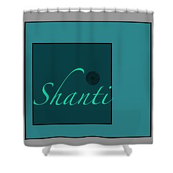 Shanti In Blue Shower Curtain by Kandy Hurley