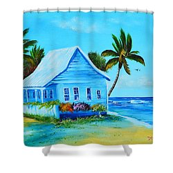 Shanty In Jamaica Shower Curtain