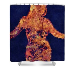 Shape Of A Woman Shower Curtain