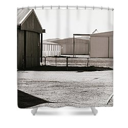 Shower Curtain featuring the photograph Shapes And Shadows by Linda Lees