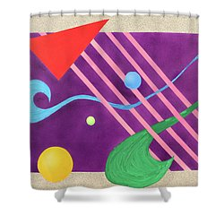 Shapes And Textures Shower Curtain