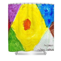 Shower Curtain featuring the painting Shapes by Artists With Autism Inc