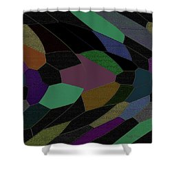 Shards Of Glass Shower Curtain