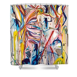 Shards Shower Curtain