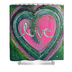 Shower Curtain featuring the painting Share My Love Heart by Laurie Maves ART
