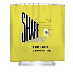 Share Sugar - It's War Scarce Shower Curtain by War Is Hell Store
