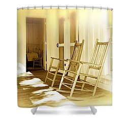 Shared Moments Shower Curtain by Mal Bray