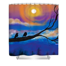 Sharing The Sunset-2 Shower Curtain