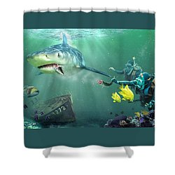Shark Bait Shower Curtain