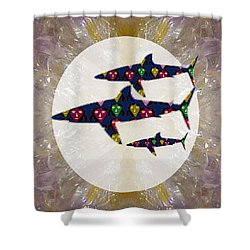 Shark Fish Dangerous Painted Cartoon Face Link For Download Option Below Personal N Commercial Uses Shower Curtain