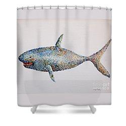 Shark Shower Curtain by Tamyra Crossley