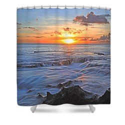 Sharks Cove Shower Curtain by James Roemmling