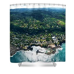 Sharks Cove Overview. Shower Curtain