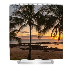 Sharks Cove Sunset 3 - Oahu Hawaii Shower Curtain by Brian Harig