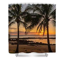 Sharks Cove Sunset 4 - Oahu Hawaii Shower Curtain