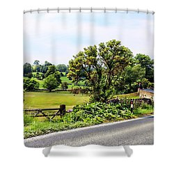 Sharp Left Bend Shower Curtain