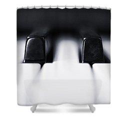 Sharp Or Flat Shower Curtain by Scott Norris