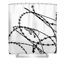 Shower Curtain featuring the photograph Sharp Sound by Clare Bambers