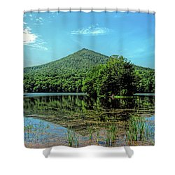Shower Curtain featuring the photograph Sharp Top Mountain At Abbot Lake - Peaks Of Otter by Kerri Farley