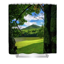 Sharp Top Through The Trees Shower Curtain