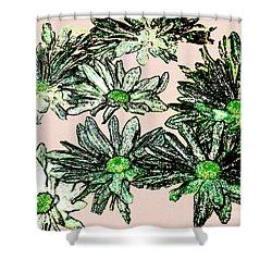 Shasta Daisies Watercolor Sketch Shower Curtain by Merton Allen