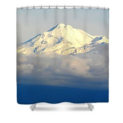 Shower Curtain featuring the photograph Shasta Near Sunset by AJ Schibig