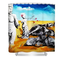 Shattered Limbs To Shattered Souls Shower Curtain