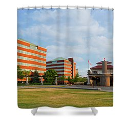 Shower Curtain featuring the photograph Shattuck Park by Joel Witmeyer