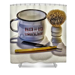 Shower Curtain featuring the photograph Shaving Still Life by Walt Foegelle