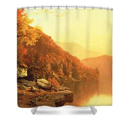Shawanagunk Mountains Shower Curtain by Jervis McEntee