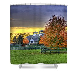 Shawanee Barn Shower Curtain