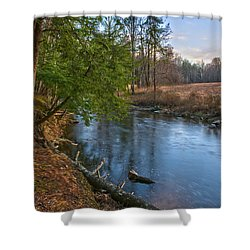 Shawangunk Kill At Dusk Shower Curtain by Angelo Marcialis