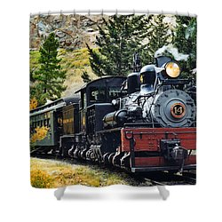 Shay On The Georgetown Loop Shower Curtain by Ken Smith