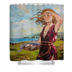 She Baked The Loaves And Dried The Fishes Shower Curtain