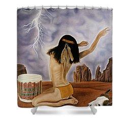 She Called The Rain Shower Curtain