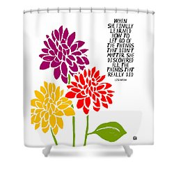 Shower Curtain featuring the painting She Finally Learned by Lisa Weedn