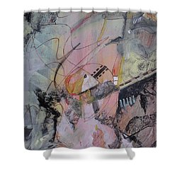 Shower Curtain featuring the mixed media She Got Lost On Purpose by Robin Maria Pedrero