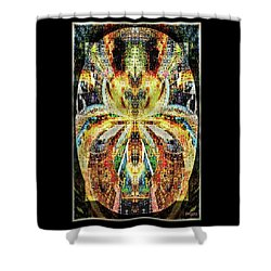 Shower Curtain featuring the digital art She Is A Mosaic by Paula Ayers