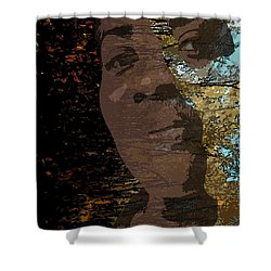 She Is Loved Shower Curtain by Cedric Hampton