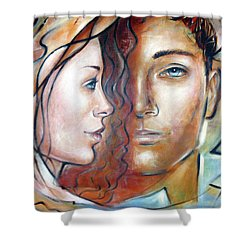She Loves Me 140709 Shower Curtain by Selena Boron