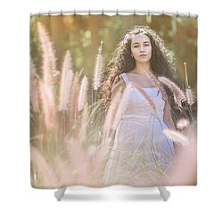 She Who Seeks Shall Find Shower Curtain
