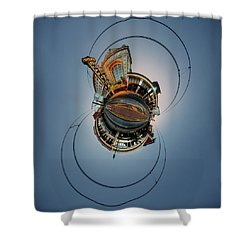 Shea's On Main Street Buffalo - Tiny Planet Shower Curtain